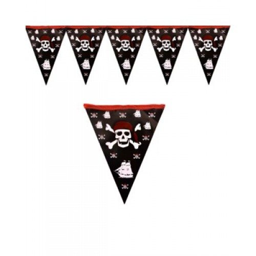 Korsan Flama Pirate Doğum Günü Flaması 2mt