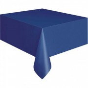 Koyu Mavi Düz Plastik Büyük Parti Masa Örtüsü 1.37 x 1.83