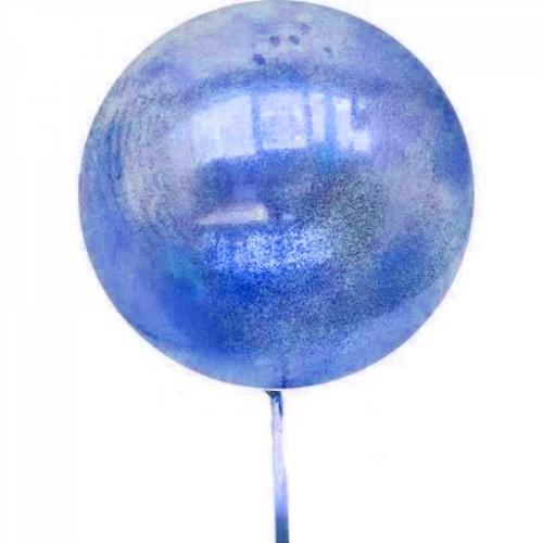 Koyu Mavi Lacivert Rengi İçi Simli Parlak Şeffaf Jumbo Balon