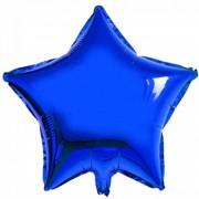 Koyu Mavi Yıldız Folyo Balon 45cm Doğum günü Parti Helyumla Uçan