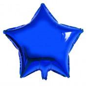 Koyu Mavi Yıldız Folyo Balon 60cm Doğum günü Parti Helyumla Uçan