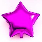 Koyu Pembe(Fuşya) Yıldız Folyo Balon 60cm Helyumla Uçan