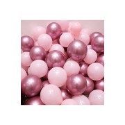 Krom Pembe Ve Makaron (Pastel) Pembe Renk 15 Li Balon