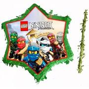 Lego Ninjago Parti Konsepti Pinyata Kutusu, Sopa İp Hediyeli