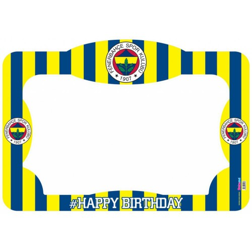 Lisanslı Fenerbahçe Doğum Günü Partisi Hatıra Fotoğraf Çerçevesi