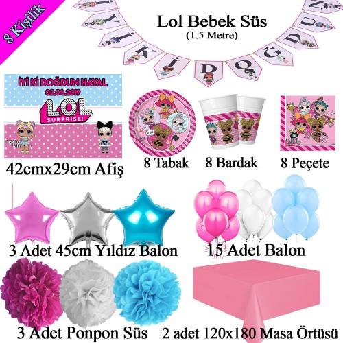 Lol Bebek Doğum Günü Partisi Poster Afişli Malzemeleri Seti