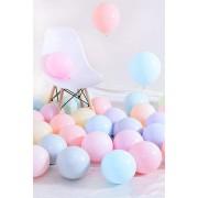 Makaron Pastel Karışık Renk 100'Lü Balon