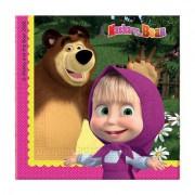 Maşa İle Ayı 20li Peçete 33x33 Doğum Günü Parti Masha and Bear