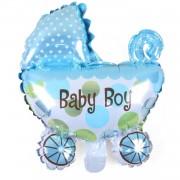 Erkek Baby Shower Partisi Mavi Folyo Balon