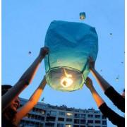 Mavi Uçan Dilek Feneri Özel Gün Dilek Balonu Kandili