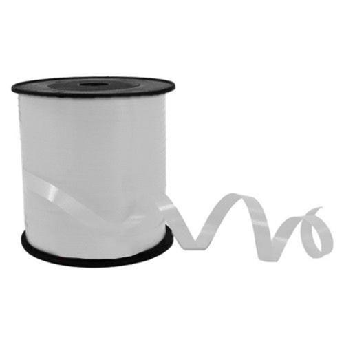 Metalik Süsleme Balon İpi, Beyaz Parlak Rafya 5mm 300 Metre