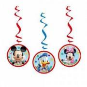 mickey mouse 3'lü yaylı set asma ip süs doğum günü