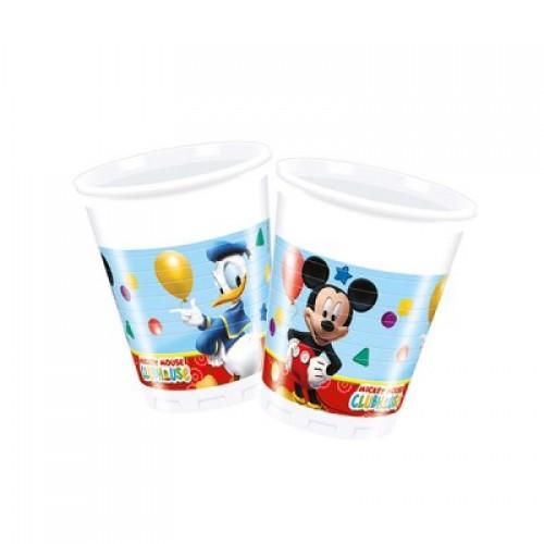 Mickey Mouse 8li Bardak 200ml Doğum Günü Parti Bardağı