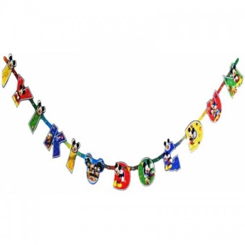 Mickey Mouse İyiki Doğdun Yazı 2mt Doğum Günü Yazısı Ucuz