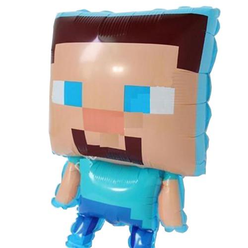 Minecraft Folyo Balon 70cmx45cm Doğum Günü Parti Helyumla Uçan