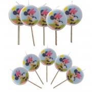 Minnie Mouse 5 adet Kürdanlı Mum Doğum Günü Mumları