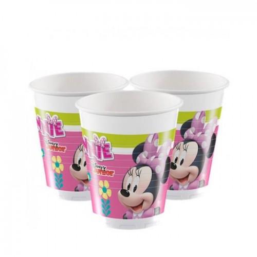 Minnie Mouse Bardak 8 adet Doğum Günü Parti Bardağı Ucuz 200ml