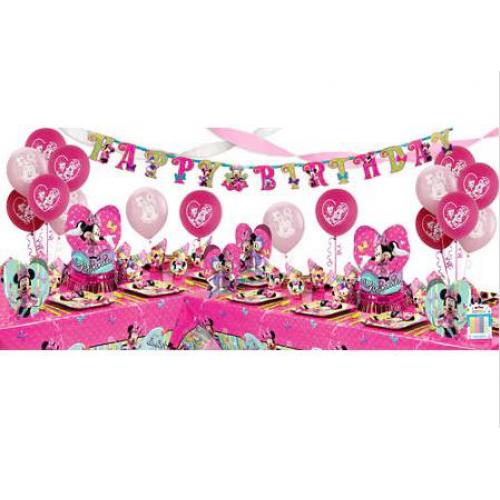 Minnie Mouse Doğum Günü Parti Seti Süsleri Malzemeleri Paketi
