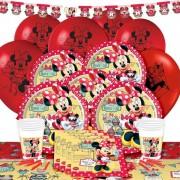 16 Kişi Minnie Mouse Doğum Günü Parti Süsleri Malzemeleri Paketi