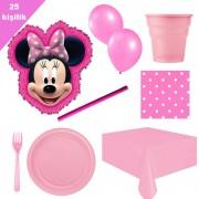 Minnie mouse Pinyata 25 Kişilik Parti seti balon doğum günü mini fare