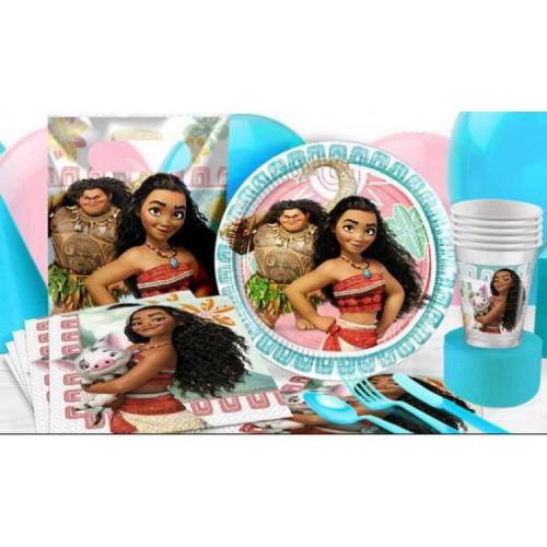 Moana 16 Kişilik Doğum Günü Parti Seti malzemeleri paketi