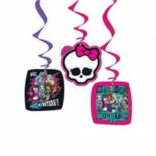 Monster High 3'lü Yaylı Set Asma İp Süs Doğum Günü