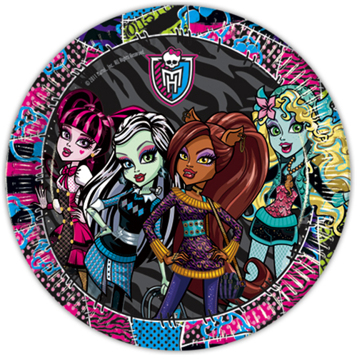 Monster High 10lu Tabak Doğum Günü Parti Tabağı 23cm Ucuz Konsept