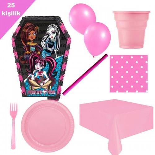 Monster High, Pinyata 25 Kişilik Parti seti balon doğum günü