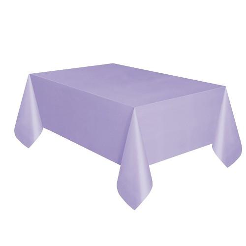 Mor Lila Kullanat Plastik Masa Örtüsü 120x180cm Doğum Günü Parti
