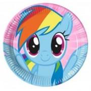 My Little Pony,Poni 8li Tabak 23 cm Doğum Günü Parti Ucuz Konsept