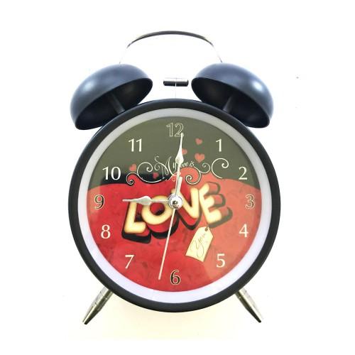 Nostaljik Klasik Siyah Alarmlı Çalar Saat, Dekoratif Hediyelik