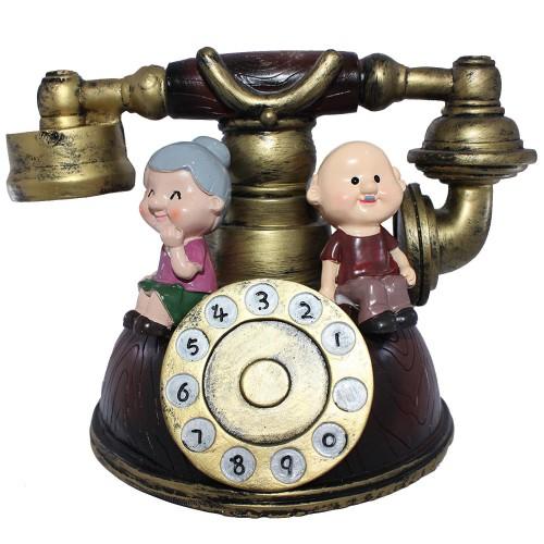 Nostaljik Telefon Kumbara Anneye Babaya Kullanışlı Hediyelik Eşya