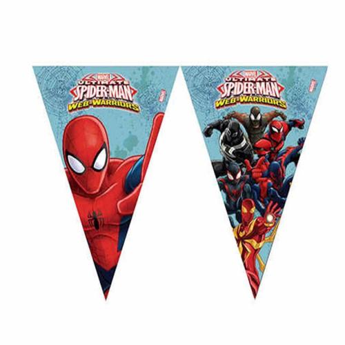 Örümcek Adam, Spiderman Flama Bayrak Doğum Günü Parti Süsleri