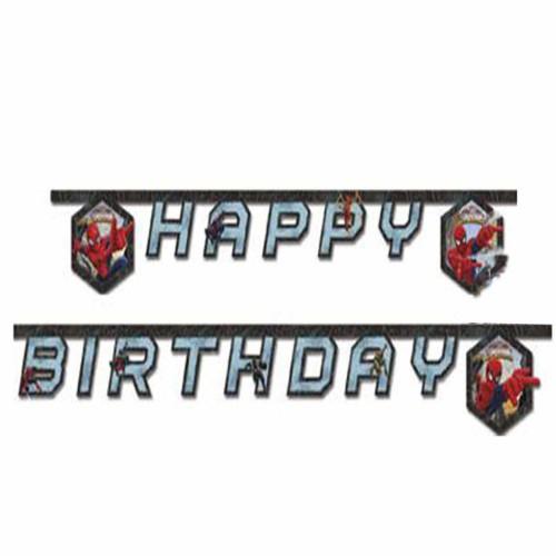 Örümcek Adam Yazı, Spiderman Happy Birthday Doğum Günü Süsü