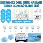 Özel Hastane Doğum Odası Kapı Süsü, Flama, Balon Süslemesi