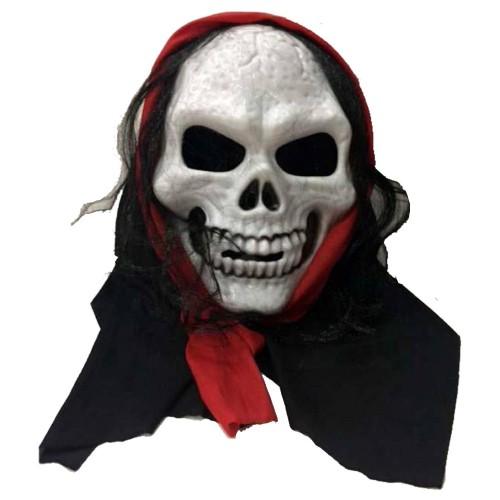 Pelerinli Beyaz İskelet Maskesi Kostüm Partisi, Şaka Malzemesi