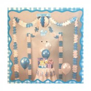 Pembe-Mavi Baby Canopy ( Mekan Süsü Seti ) Parti Malzemesi