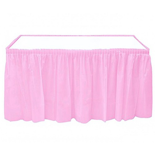 Pembe Skirt Masa Eteği Masa Yanlarında Fırfır 74 cm x 426 cm