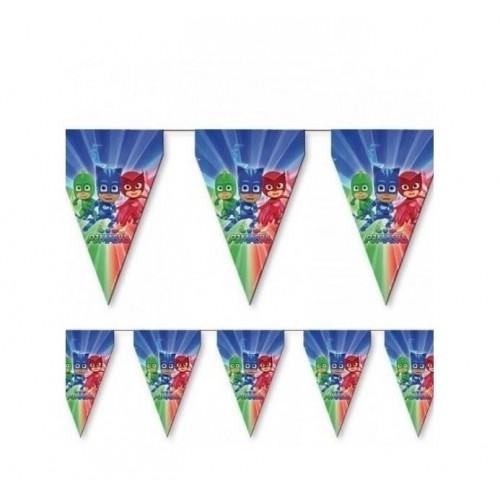 Pija Maskeliler 3.2m 11 Bayraklı Flama,Doğum Günü Parti Malzemesi