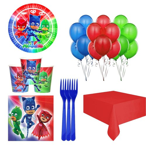 Pija Maskeliler, Pj Masks 24 Kişilik Doğum Günü Parti Seti Paketi
