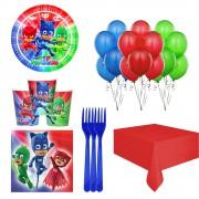 Pija Maskeliler, Pj Masks 8 Kişilik Doğum Günü Parti Seti Paketi
