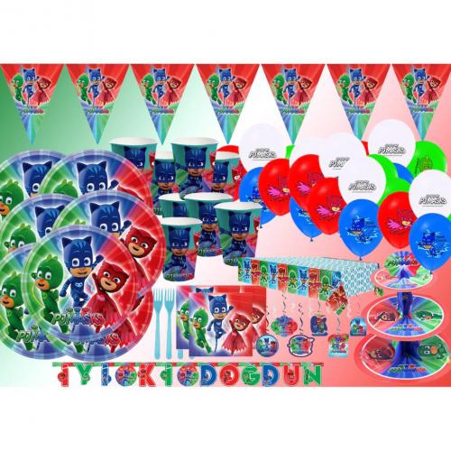 Pijamaskeliler Temalı Doğum Günü Parti Konsepti Seti, Pjmasks