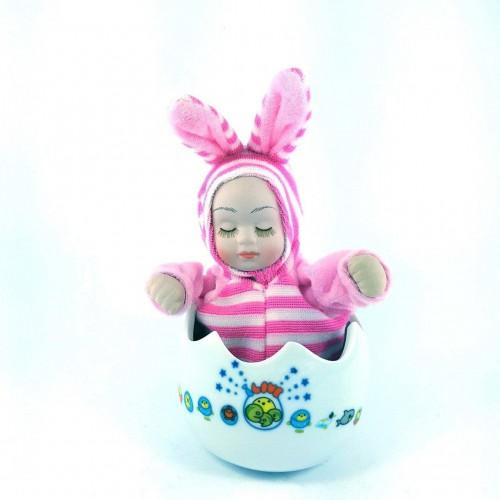 Porselen Yumurta İçinde Uyuyan Müzikli Bebek, Yenidoğan Hediye