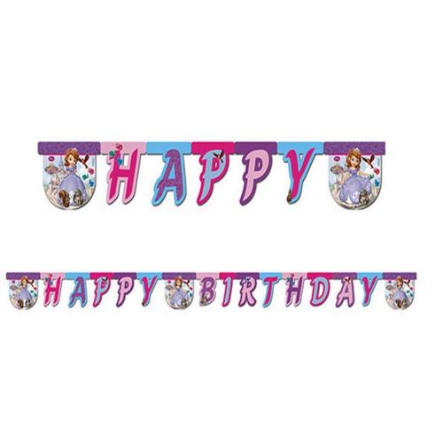 Prenses Sofia, Sofya Happy Birthday Yazı Doğum Günü Süsü