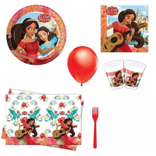Prenses Elena 8 Kişilik Doğum Günü Set malzemeleri
