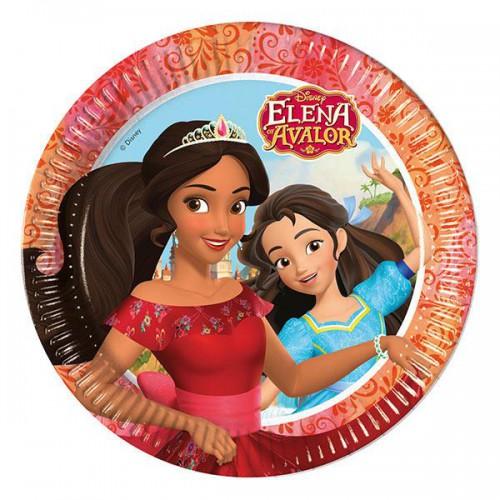 Prenses Elena 8li Tabak Doğum Günü Parti Tabağı Kullan At