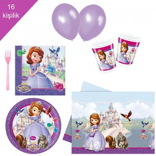 Prenses Sofia, Sofya 16 Kişilik 8 Parça Doğum Günü Seti malzemeleri