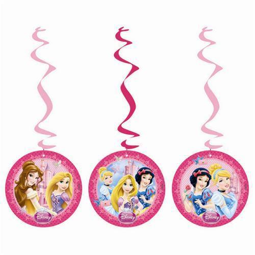 Prensesler 3'lü Yay Set pembe Asma İp Süs Doğum Günü