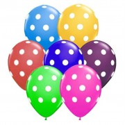 Puantiyeli Karışık 14lü Benekli Balon, Boncuklu Balon Renkli Ucuz
