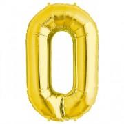 Rakam Folyo Balon 0 Rakamı Büyük Boy Balon Altın Sarısı /Dore 100CM